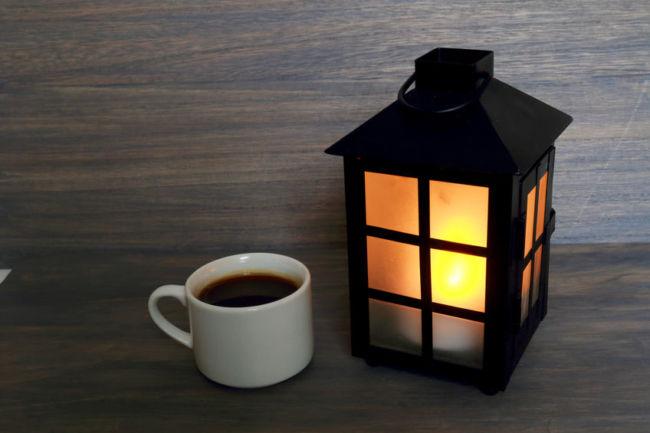 夜にコーヒー